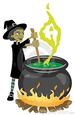 Witch Preparing Magic Potion