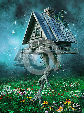 Free Witch S Cottage On A Meadow Royalty Free Stock Photo - 37611485