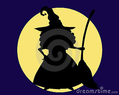 A witch s shadow with a broom