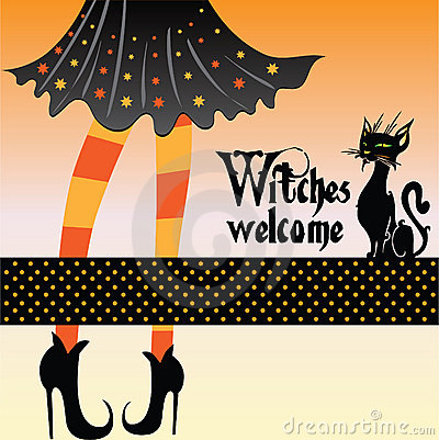 Free Witch With Cat Royalty Free Stock Images - 10844829