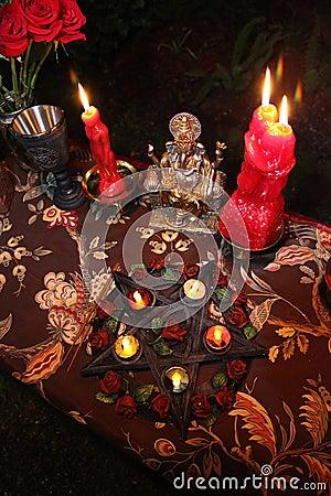 Witchcraft wedding ceremony