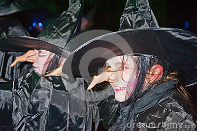 Witches  at Halloween Editorial Image