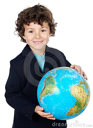 Free With A Globe Of The World Royalty Free Stock Image - 2680506