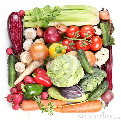 Free With Vegetables In A Square. Stock Photos - 14205963
