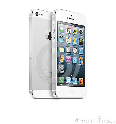 Withe IPhone 5 Editorial Stock Photo