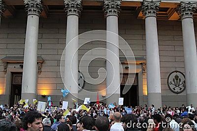 Buenos Aires Pope Świętowanie Zdjęcie Stock Editorial