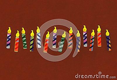 świętowanie urodzinowe świeczki
