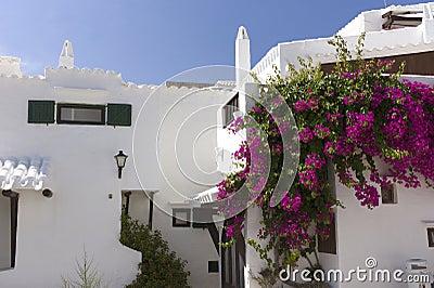 Witte huizen.