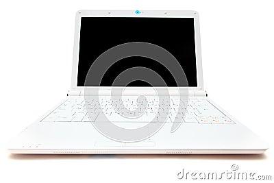 Witte minilaptop