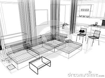 Witte woonkamer stock fotografie afbeelding 13890982 for Modern woonkamerbeeld
