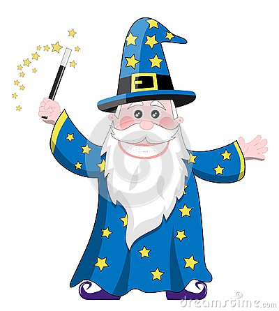 Cartoon wizard isolated on white background. You can find other ...