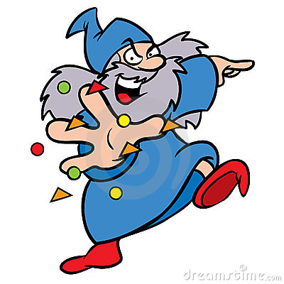Wizard cartoon character