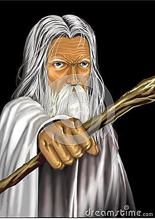 Wizard Cartoon Illustration