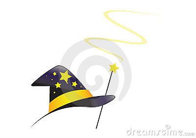 Wizard hat with swirl - vector
