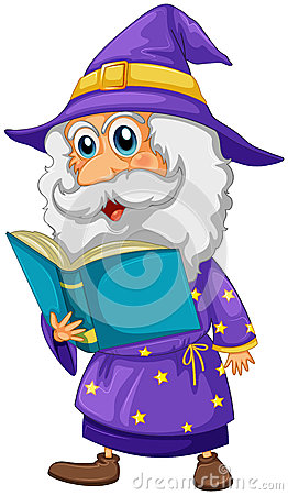 A wizard holding a book