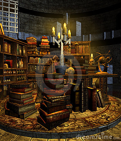 Wizard S Study 3 Stock Photo Image 12783670