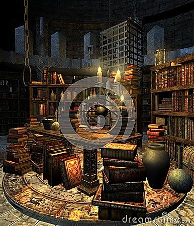 Wizard s study 4