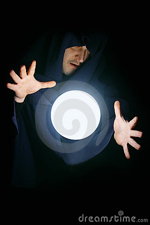 Free Wizard With Magical Sphere Stock Image - 7987251