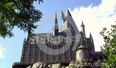 Wizarding world of Harry Potter Castle Editorial Image