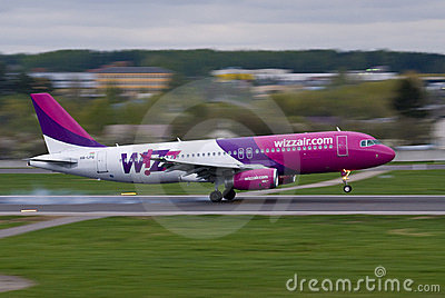 Wizz Air going fast Editorial Photo