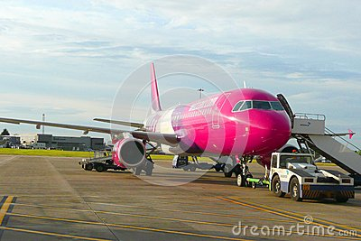 Wizzair aircraft Editorial Stock Photo