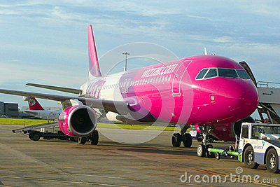 Wizzair aircraft Editorial Stock Image