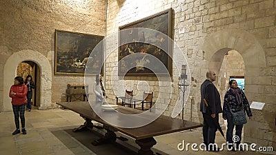 Wnętrze Pałacu Królewskiego La Almudaina w Palma de Mallorca, Hiszpania zbiory