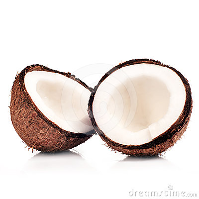 Free Wo Halfs Of Coconut  Stock Images - 24620444