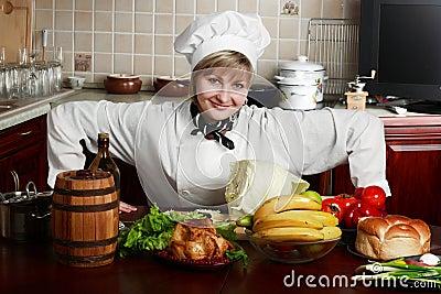 Woam cook