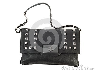 Woaman black purse