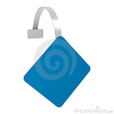 Wobbler blue square