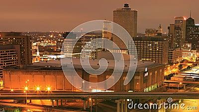 Wochentags bis nachts gepeilt, Memphis, Tennessee, Vereinigte Staaten 4K stock video footage
