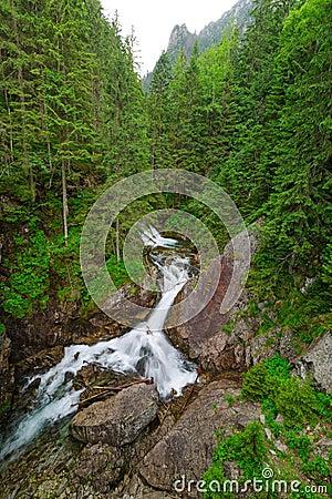 Wodogrzmoty Mickiewicza waterfall in Tatra mountains