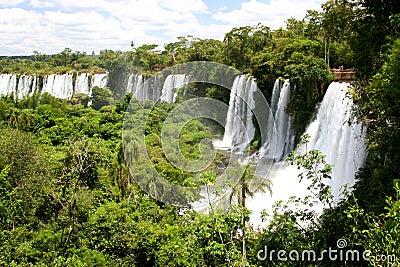 Wodospadem iguacu