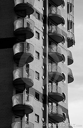 Wohnblock zitronengelben Kai London