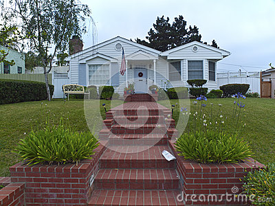Wohnhaus im Punkt Loma California.