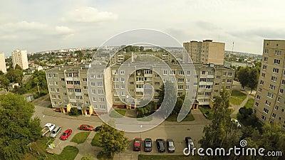 Wohnviertel mit den Häusern von Lida belarus Strandja Berg, Bulgarien stock video footage