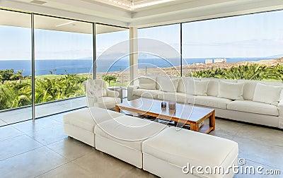 Wohnzimmer Im Modernen Landhaus Stockfoto - Bild: 53982816