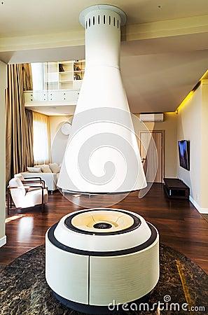 Wohnzimmer Mit Kamin In Der Mitte Vektor Abbildung - Bild: 62785465 Kamin Im Wohnzimmer Bis Zur Mitte
