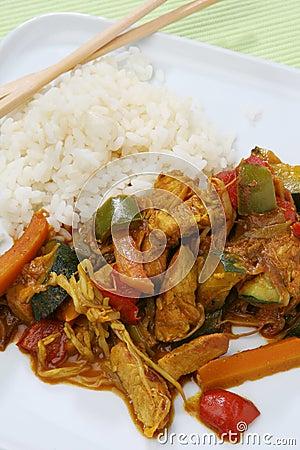 τρόφιμα της Ασίας wok