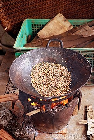 Wok Roasting Coffee