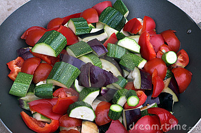 Wok with vegetables