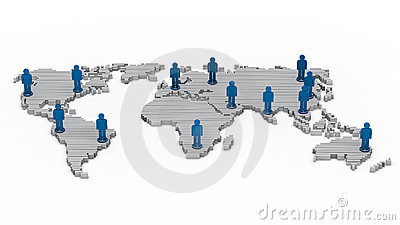 Wold map network people