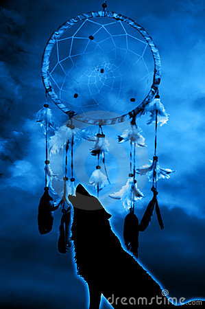 Free Wolf And Dream Catcher Royalty Free Stock Image - 11545346