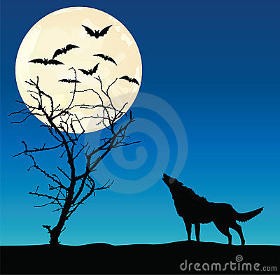 Wolf and the dried up tree