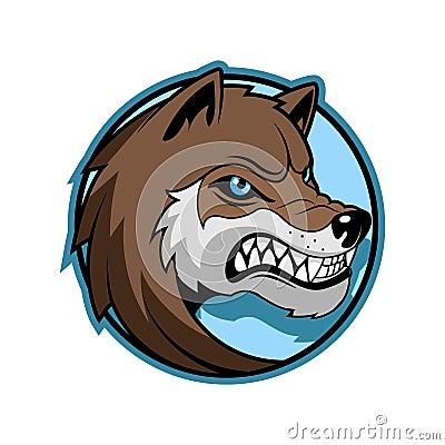 Free Wolf Emblem Minimalistic Vector Illustration Stock Images - 104747114