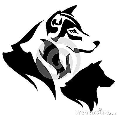 Wolf Head Stock Vector Image 39557060
