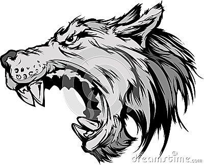 Wolf Mascot Head Cartoon Wolf Mascot Head Cartoon