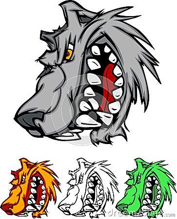 Wolf Mascot Vector Logo