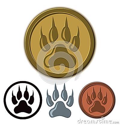 Free Wolf Paw Logo Royalty Free Stock Image - 36759216